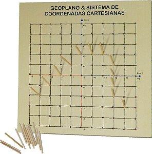 Geoplano Base Mdf 30x30x06cm + Pinus De Encaixe