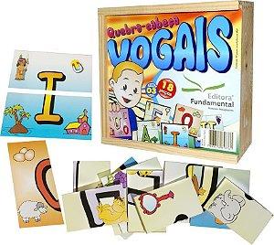 Brinquedo Educativo Quebra Cabeça Vogais Com 18 Peças - FUNDAMENTAL