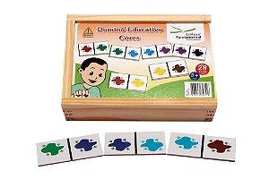 Dominó Educativo Cores Jogo Com 28 Peças