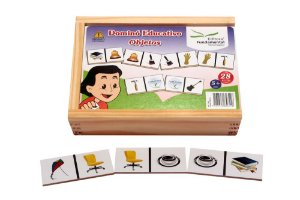 Dominó Educativo Objetos Jogo Com 28 Peças