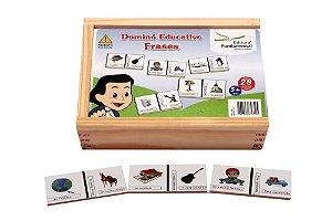Domino Frases Jogo Com 28 Peças