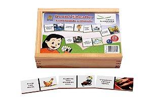 Dominó Educativo Completando A Historia Jogo Com 28 Peças