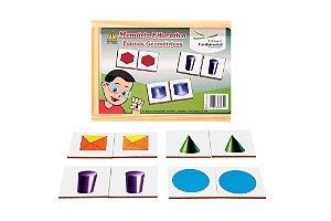 Brinquedo Educativo Memória Formas Geométricas Jogo Com 40 Peças Mdf - FUNDAMENTAL