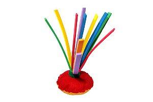 Brinquedo Educativo Peteca Em E.V.A  E Feltro Tam. 22cm - FUNDAMENTAL