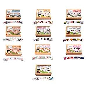 Conjunto De Dominos Matematica Caixa Com 10 Jogos