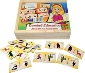 Domino Educativo Animais Do Zoologico