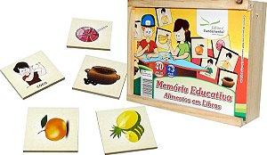 Brinquedo Educativo Memória Alimentos Em Libras - FUNDAMENTAL