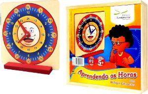Brinquedo Educativo Aprendendo As Horas Relogio Educativo - FUNDAMENTAL