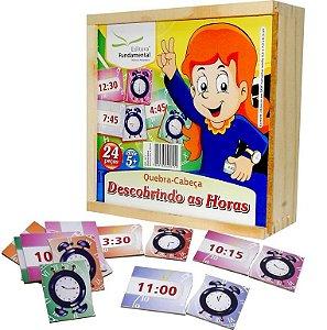 Brinquedo Educativo Quebra Cabeça Descobrindo As Horas - FUNDAMENTAL