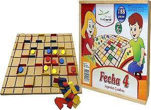 Brinquedo Educativo Fecha 4 Jogo Dos Quadrados - FUNDAMENTAL