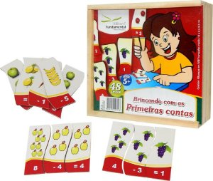 Brinquedo Educativo Brincando Com As Primeiras Contas Emb. Com 48 Peças . - FUNDAMENTAL