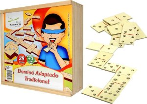 Brinquedo Educativo Dominó Adaptado Braile - FUNDAMENTAL