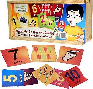 Brinquedo Educativo Aprenda A Contar Em Libras 1 ao 10 - FUNDAMENTAL
