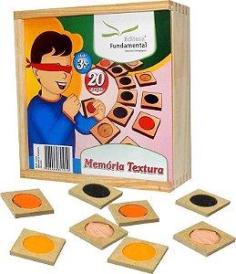 Brinquedo Educativo Memória Textura - FUNDAMENTAL
