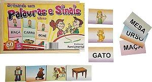 Brinquedo Educativo Brincando Com Palavras E Sinais Libras 210 Peças - FUNDAMENTAL