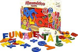 Jogo Educativo Alfanumérico Em E.V.A  62 Letras - FUNDAMENTAL