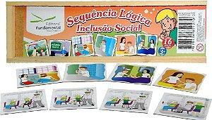 Sequencia Lógica Inclusao Social Cx Com 20 Peças.