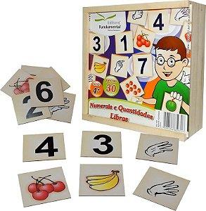 Brinquedo Educativo Numerais E Quantidades Libras 30 Peças - FUNDAMENTAL