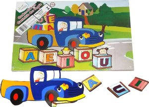 Brinquedo Educativo Quebra Cabeça Caminhao Das Vogais - FUNDAMENTAL