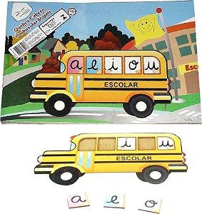 Brinquedo Educativo Quebra Cabeça onibus Das Vogais - FUNDAMENTAL