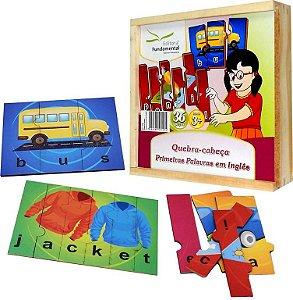 Brinquedo Educativo Quebra Cabeça Primeiras Palavras Em Ingles Emb. Com 36 Peças . - FUNDAMENTAL