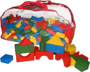 Brinquedo Educativo Sacolao Blocos De Construçao Com 500 Peças - FUNDAMENTAL