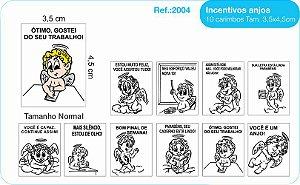 Carimbos Pedagógicos Psico Avaliação Mod. Anjos 10 Unidades - Fundamental