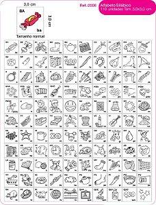 Jogo Educativo Alfabeto Silabico 110 Unidades - FUNDAMENTAL