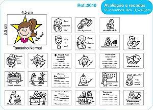 Carimbos Pedagógicos Avaliação E Recados 25 Unidades - Fundamental