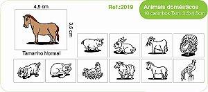 Carimbos Pedagógicos Animais Domésticos 10 Unidades - Fundamental