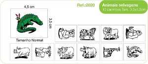 Carimbos Pedagógicos Animais Selvagens 10 Unidades - Fundamental