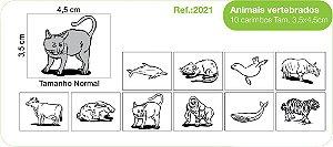 Carimbos Pedagógicos Animais Vertebrados 10 Unidades - Fundamental