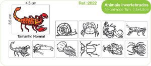 Carimbos Pedagógicos Animais Invertebrados 10 Unidades - Fundamental