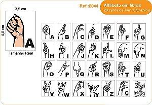 Carimbos Alfabeto em Libras 28 Unidades 3,5x4,5 cm