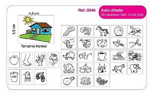 Carimbos Pedagógicos Auto Ditado 30 Unidades - Fundamental