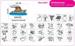 Carimbos Pedagógicos Alfabetização 30 Unidades - Fundamental