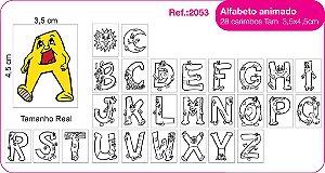 Carimbos Pedagógicos Alfabeto Animado 28 Unidades - Fundamental