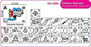 Carimbos Alfabeto Ilustrado 28 Unidades