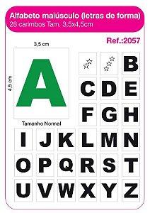 Carimbos Alfabeto Maiusculo Letras de Forma 28 Unidades