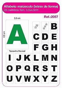 Carimbos Pedagógicos Alfabeto Maiúsculo Letras De Forma 28 Unidades - Fundamental