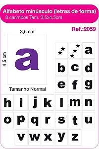 Carimbos Alfabeto Minusculo Letras de Forma 28 Unidades