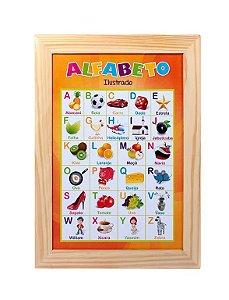 Paineis Sala De Aula Alfabeto Ilustrado Portugues Med. 38x50cm - FUNDAMENTAL