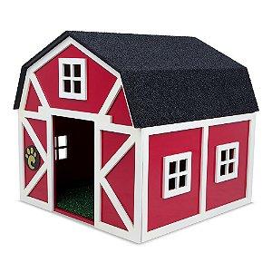 Carlu Pet House - Celeiro Vermelho/Branco