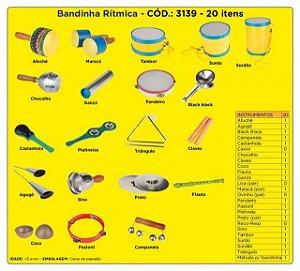 Bandinha Rítmica 20 Instrumentos Musicais