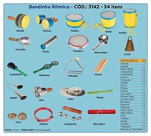 Bandinha Rítmica 34 Instrumentos Musicais