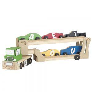 Brinquedo Educativo FROTA PEDAGOGICA CEGONHA DE VOGAIS - CARLU