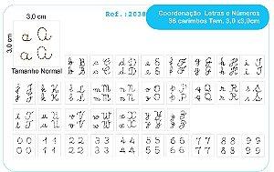 Carimbos Pedagógicos Coordenação Motora Mod. Letras E Números - Fundamental
