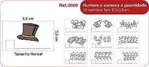 Carimbos Pedagógicos Numere E Escreva A Quantidade - 10 Un. - Fundamental