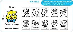 Carimbos Psico Avaliaçao Modelo Expressões Faciais