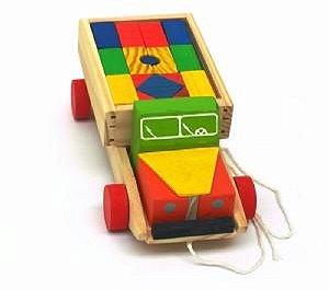 Brinquedo Educativo Caminhão Super Transblocos Madeira - JOTTPLAY